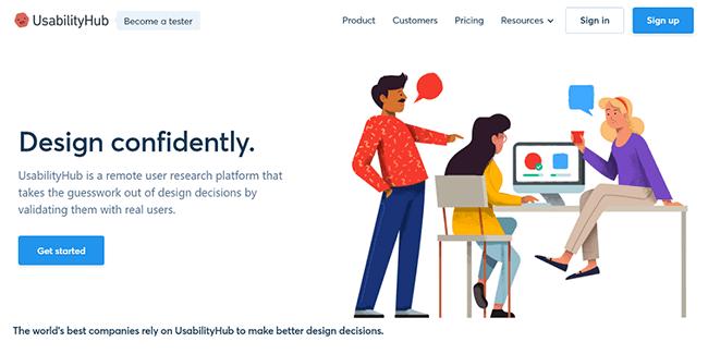 UsabilityHub Homepage