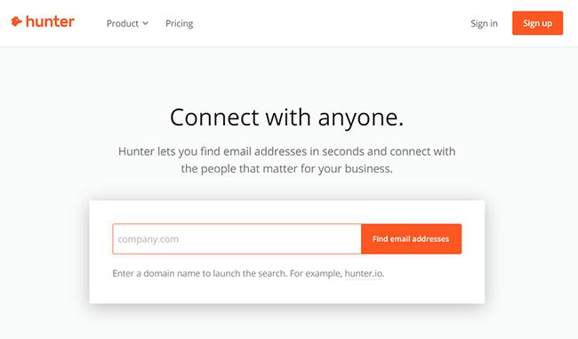 hunter Homepage