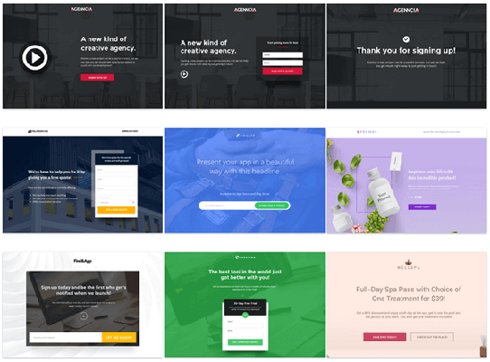 instapage templates best landing page tools for wordpress