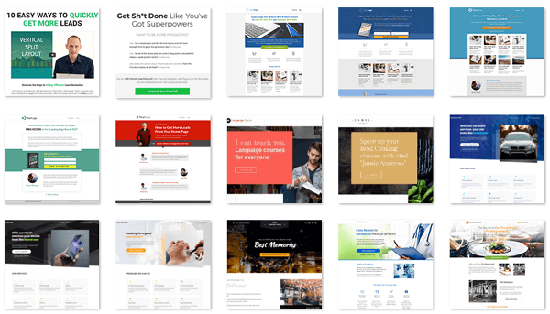 thrive architect templates best landing page tools for wordpress