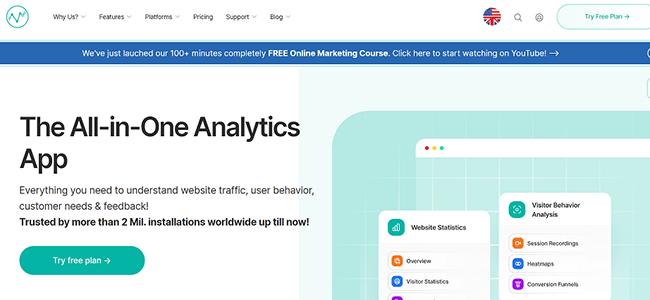 visitor analytics Homepage