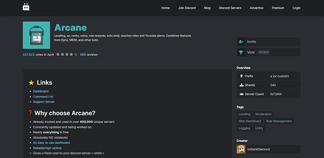 Arcane Homepage