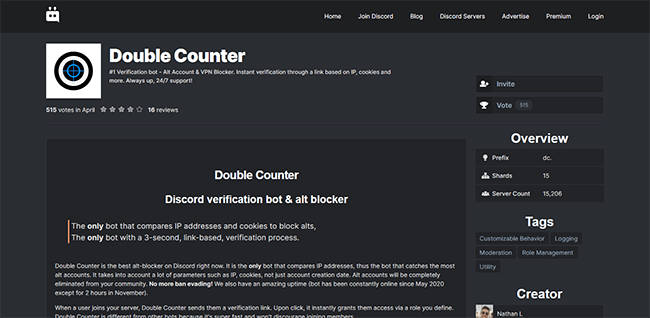 Double Counter Homepage