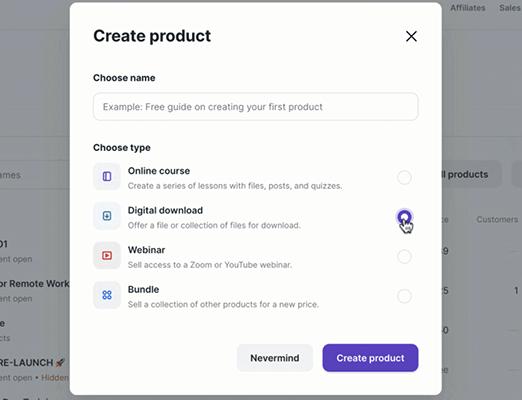 Podia - Select and upload to Podia