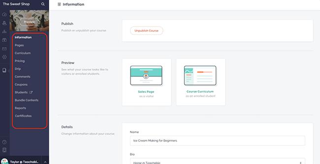 Teachable Learning Dashboard