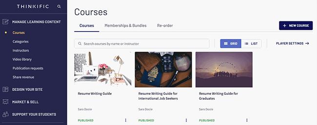 Thinkific - Create course content