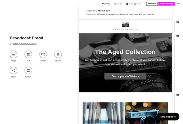 drip email builder