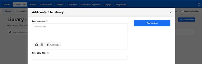 ContentCal content hub