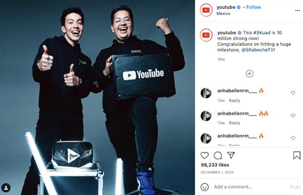 Instagram - Drive videos to social media