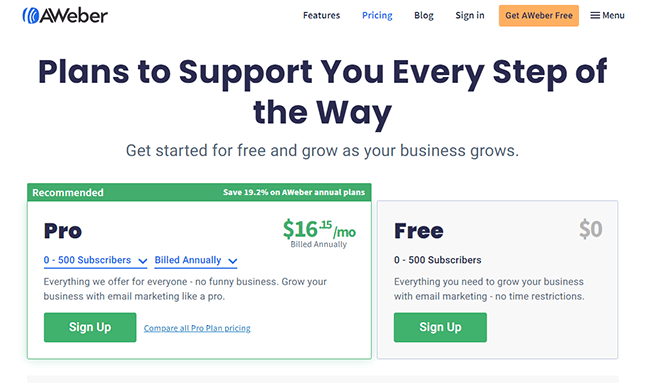 Two plan - free and paid