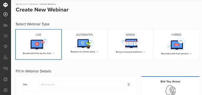 02 Create a new webinar with WebinarNinja