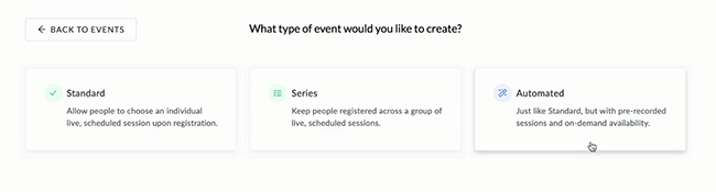02 Type of event to create