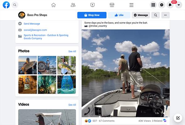 bass pro shops facebook video