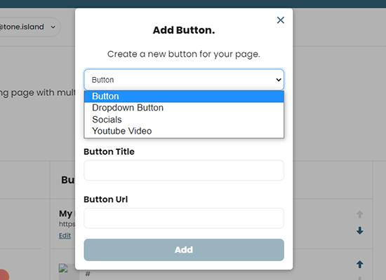 Add new button to Instagram bio page