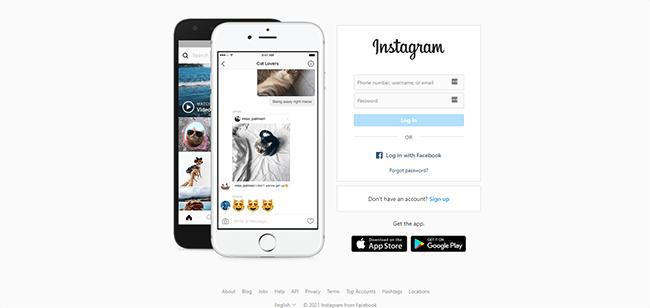 Instagram Insights Homepage