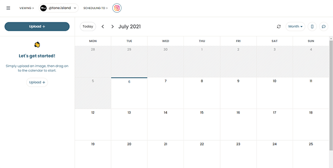 Pallyy drag and drop calendar