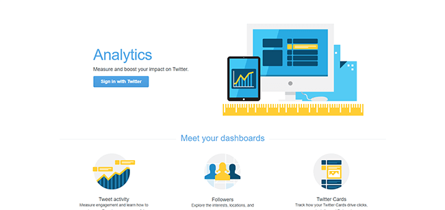 Twitter Analytics Homepage